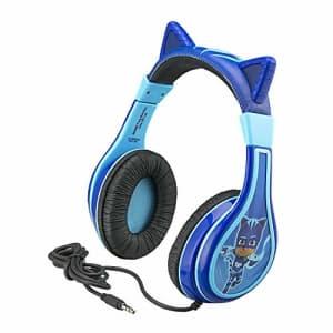 eKids PJ Masks Catboy Kids Headphones, Adjustable Headband, Stereo Sound, 3.5Mm Jack, Wired Headphones for $20