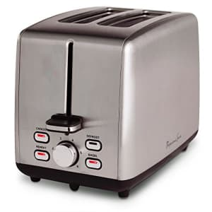 Continental Electric Toaster PS77411, 2-Slice, Stainless Steel for $56