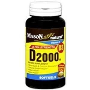 Mason Vitamins D 2000 IU Softgels, 60 Count for $28