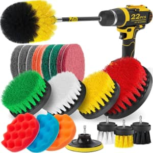 Holikme 22-Piece Drill Brush Attachments Set for $15