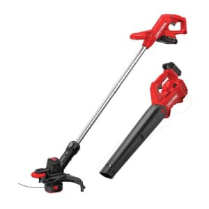 """Craftsman Weedwacker 10"""" 20V Battery Trimmer and Blower Combo Kit for $100 for members"""