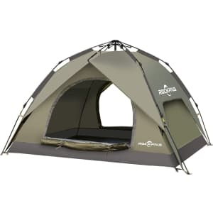 Rockpals 4-Person Pop-Up Tent for $58