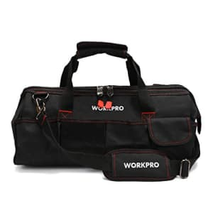 """WORKPRO Close Top Storage Tool Bag, 18"""", Black/Red, W081023A,Black&Red for $25"""