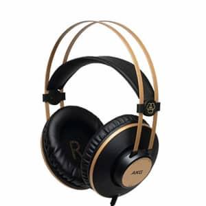 AKG Pro Audio K92 Over-Ear, Closed-Back, Studio Headphones, Matte Black and Gold for $59