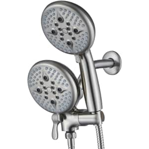 """Ello & Allo 5"""" Dual Shower Head and Handheld Shower Head for $19"""