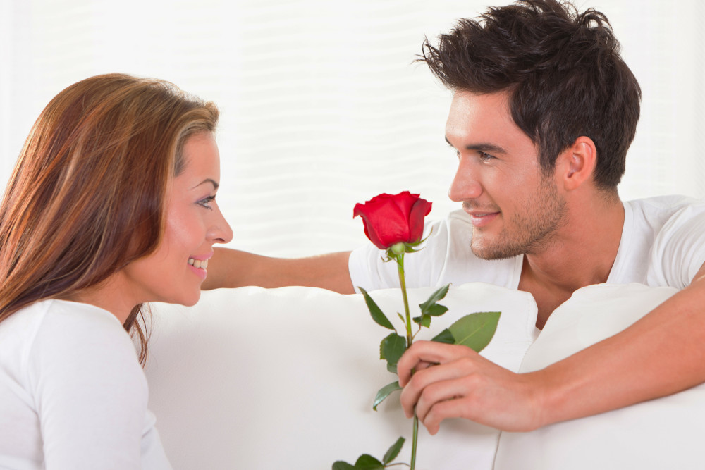 Image result for Man with Flowers presenting woman