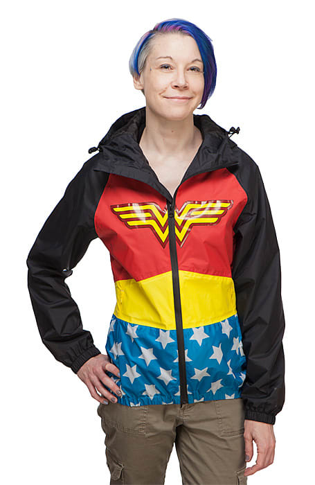 Wonder Woman rain jacket