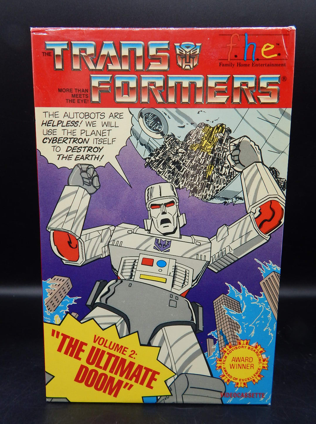 Transformers VHS tape