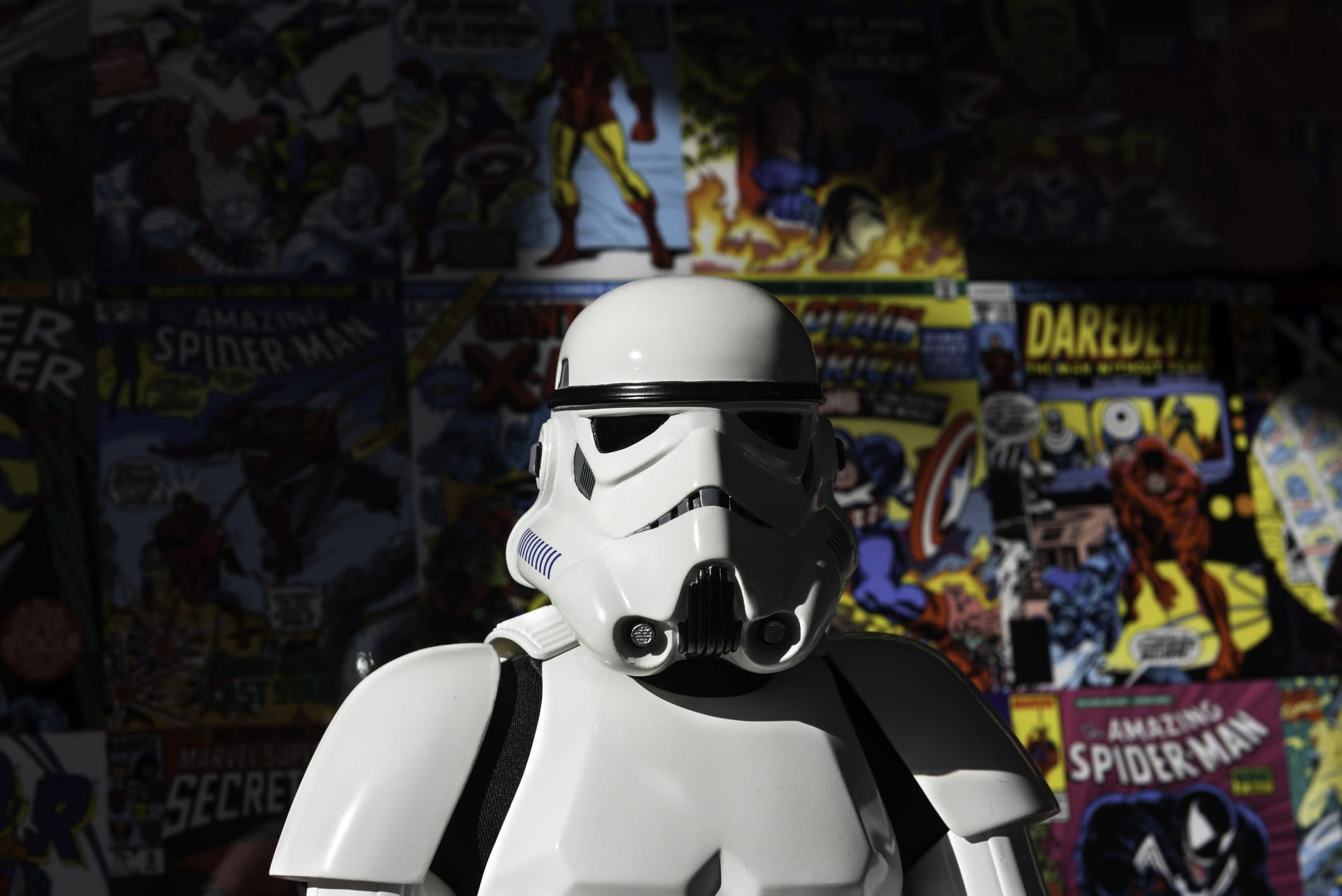 stormtrooper with comic background