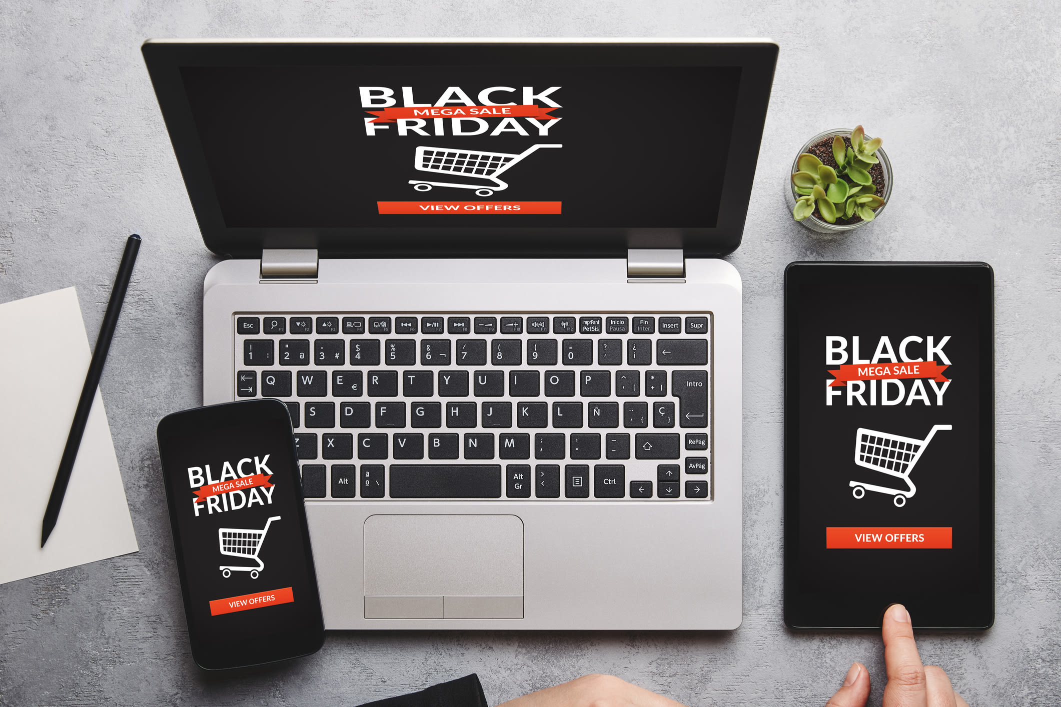 Black Friday ads on devices