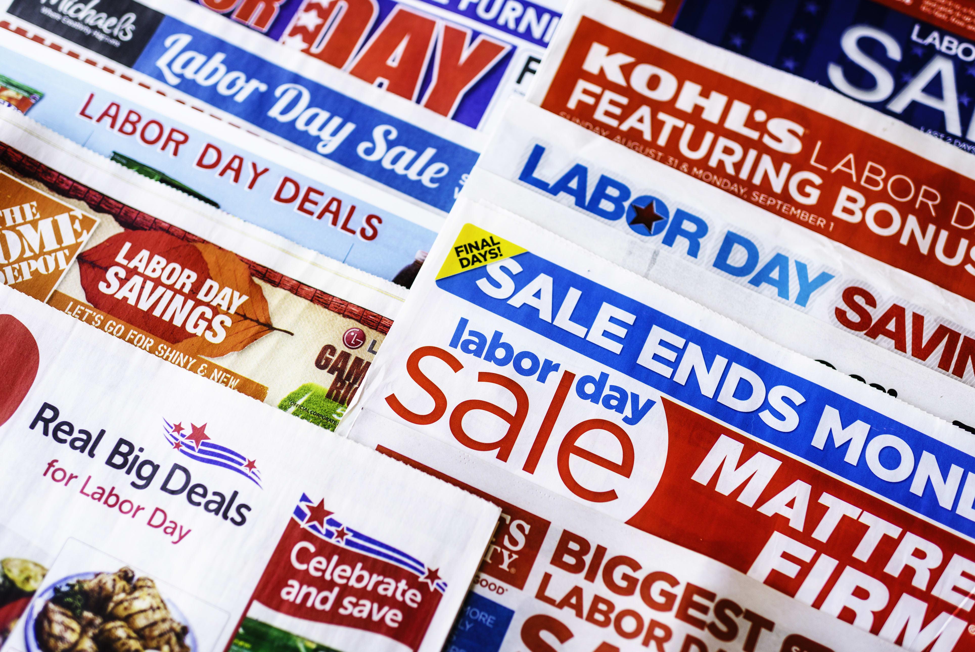 Labor Day sales ads