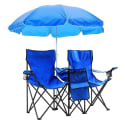 Double Folding Chair with Umbrella and Cooler for $30 + free shipping