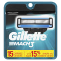 Gillette Mach3 Men's Razor Blade Refills 15pk for $19 + free shipping