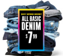 The Children's Place Kids' Basic Denim for $8 + free shipping
