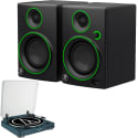 2 Mackie Speakers, Audio-Technica Turntable for $160 + free shipping