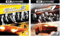 Fast & Furious 6 & 7 4K / Blu-ray / Digital for $25 + free shipping