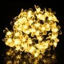 DecorNova 20ft Solar Flower String Lights for $6 + free shipping w/ Prime