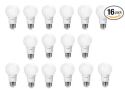 Philips 60W Equivalent LED Light Bulb 16-Pack for $20 + free shipping