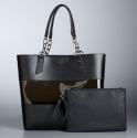 Simply Vera Vera Wang Catherine Tote Bag for $38 + pickup at Kohl's
