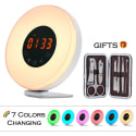 Wake Up Light Alarm Clock w/ Nail Clipper Set for $23 + free shipping
