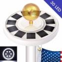 30-LED Solar-Powered Flagpole Light for $22 + free shipping