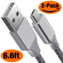 Brexlink microUSB & USB 6.6ft. Cable 2-Pack for $6 + free shipping w/ Prime