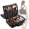 Vasker 3-Layer Makeup Bag w/ Dividers for $25 + free shipping