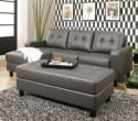 Claire Leather Reversible Sectional / Ottoman from $599 + free shipping
