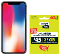 iPhone X 64GB w/ $45 Straight Talk Airtime for $744 + free shipping