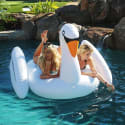 GoFloats Voyage Giant Inflatable Swan for $35 + free shipping
