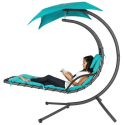 Hanging Chaise Lounger Canopy Chair for $120 + free shipping