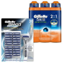 Gillette Mach3 Razor & Shave Gel Bundle from $37 + free shipping