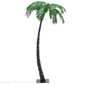 Best Choice Artificial Pre-Lit Palm Tree for $50 + free shipping