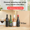 Winc Wine Service 4-Bottle Box: $25 off, boxes from $27 + free shipping