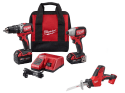 Milwaukee Drill/Impact Combo w/ Hackzall Saw for $229 + free shipping