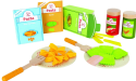 Hape Pasta Wooden Play Kitchen Food Set for $15 + free shipping w/ Prime