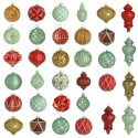 Martha Stewart Winter Glass Ornament 50pc Set for $25 + free shipping