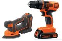 Black + Decker 20V Cordless Drill and Sander for $40 + free shipping