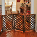 Urnporium 3-Panel Mango Wood Folding Pet Gate for $50 + free shipping