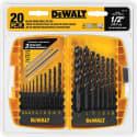DeWalt 20-Piece Black Oxide Drill Bit Set for $10 + pickup at Ace Hardware