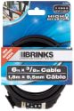 "Brinks 6-Ft. x 3/8"" High Security Cable for $6 + pickup at Walmart"