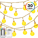 DecorNova 30-LED Ball String Lights for $5 + free shipping