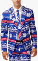 OppoSuits Men's Slim-Fit Suit and Tie for $40 + $10 s&h