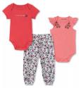 Calvin Klein Baby Girls 3-Piece Bodysuits & Printed Pants Set for $8 + pickup at Macy's