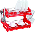 Home Basics 2-Tier Dish Drying Rack for $18 + pickup at Walmart