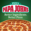 Large or Pan 1-Topping Papa John's Pizza for $7