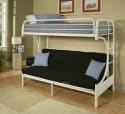 Acme Eclipse Twin-over-Full Futon Bunk Bed for $104 + free shipping