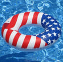 "Swimline 36"" Inflatable American Flag Tube for $9 + free shipping w/ Prime"