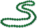 """34"""" Round Malay Jade Bead Necklace for $19 + free shipping"""