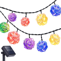 DecorNova LED Solar Outdoor String Lights for $4 + free shipping w/ Prime